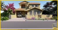 50x90 House Plan | Basement + 2 Floors